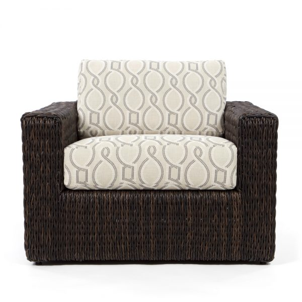 Ebel Orsay outdoor wicker lounge chair front view