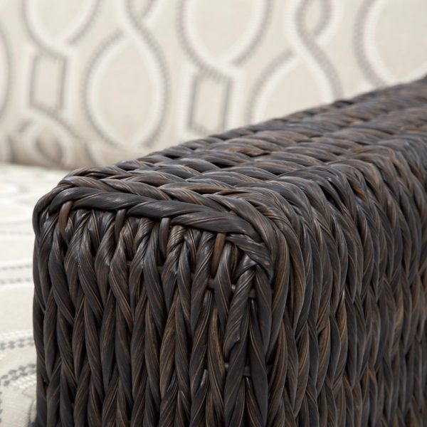 Ebel Orsay wicker club chair with a Espresso weave