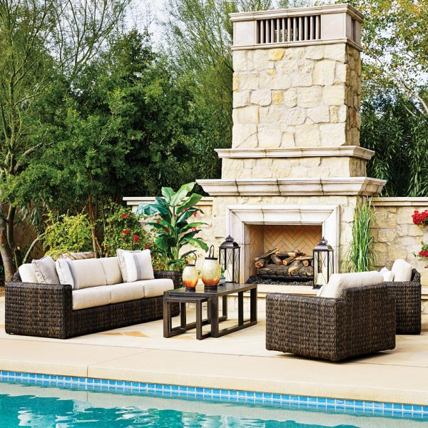 Ebel Orsay wicker patio furniture collection