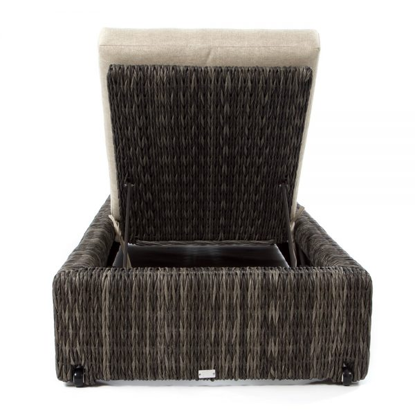 Orsay wicker outdoor chaise lounge back view