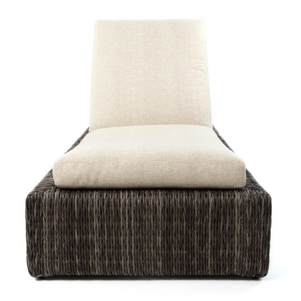 Ebel Orsay wicker chaise lounge front view