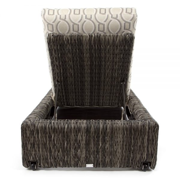 Orsay wicker chaise lounge back view
