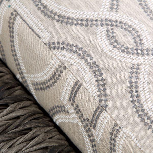 Ebel Orsay chaise lounge with Sunbrella Twist Smoke cushions