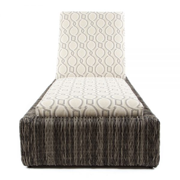 Ebel wicker chaise lounge front view