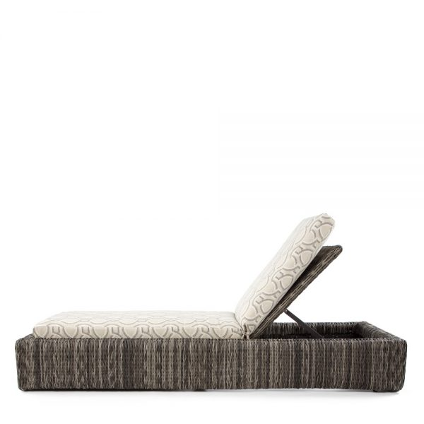 Orsay outdoor chaise lounge side view