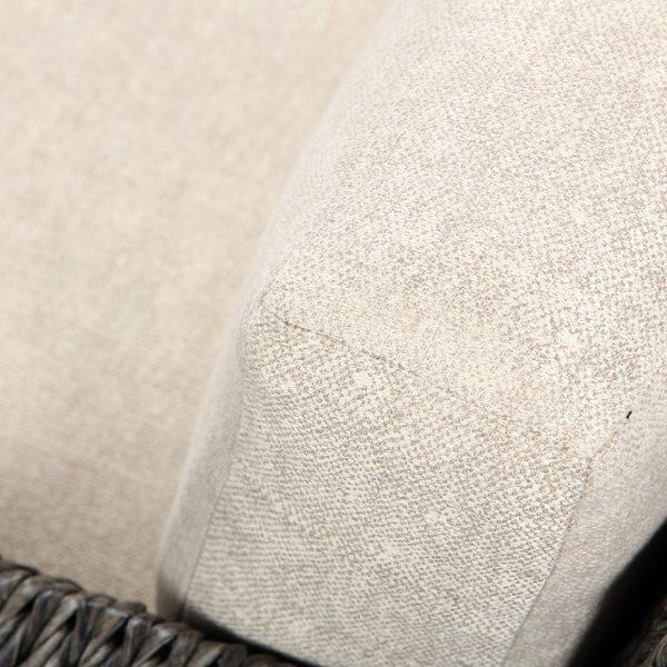 Ebel Orsay lounge chair with Sunbrella Chartres Malt cushions