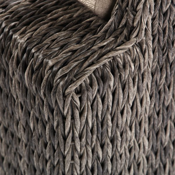 Ebel Orsay wicker club chair with a Smoke weave