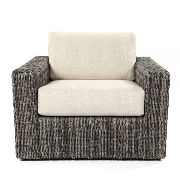 Ebel Orsay wicker patio club chair front view