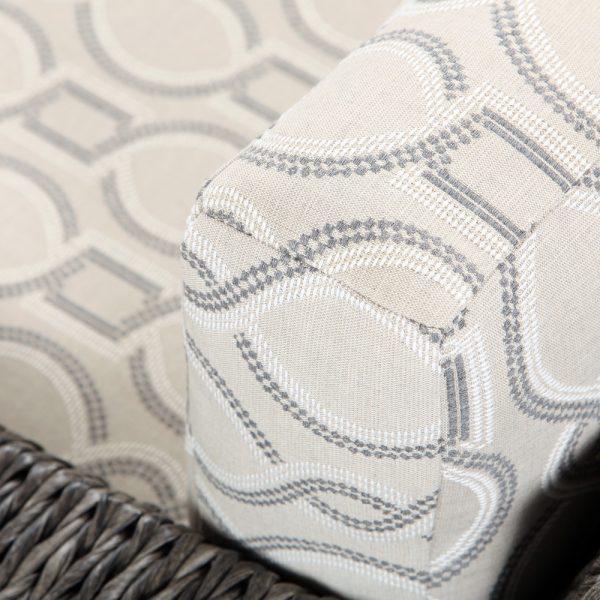 Ebel Orsay lounge chair with Sunbrella Twist Smoke cushions