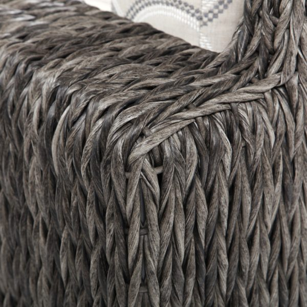 Ebel Orsay wicker lounge chair with a Smoke weave