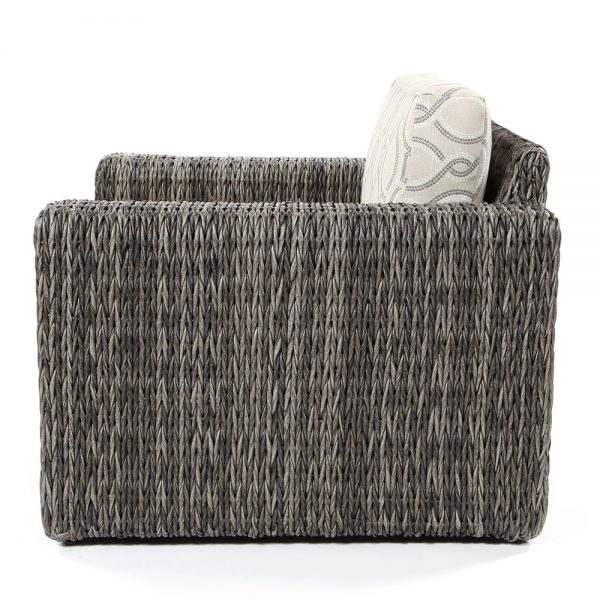 Orsay smoke wicker lounge chair side view
