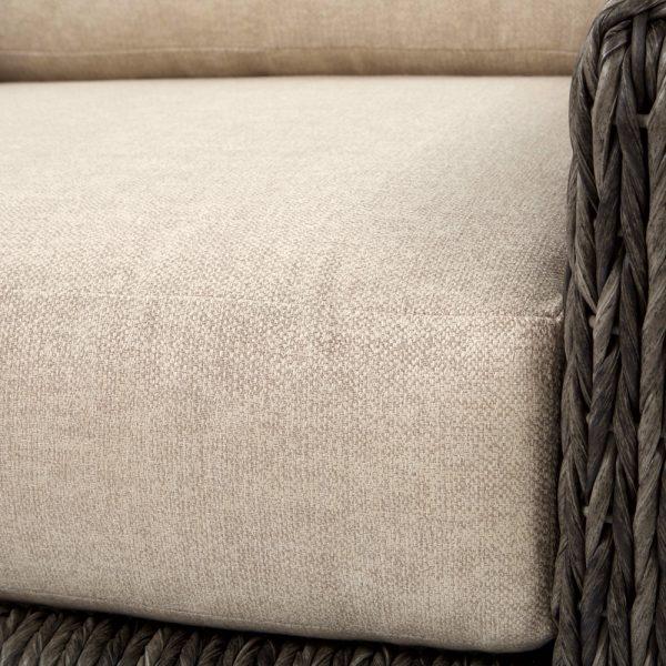 Ebel Orsay swivel lounge chair with Sunbrella Chartres Malt cushions