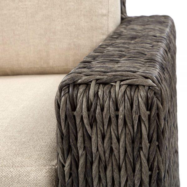Ebel Orsay wicker swivel club chair with a Smoke weave
