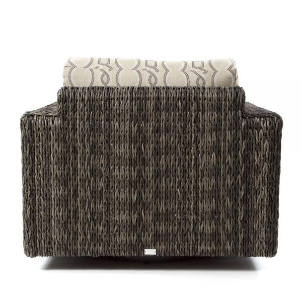 Orsay wicker swivel lounge chair back view