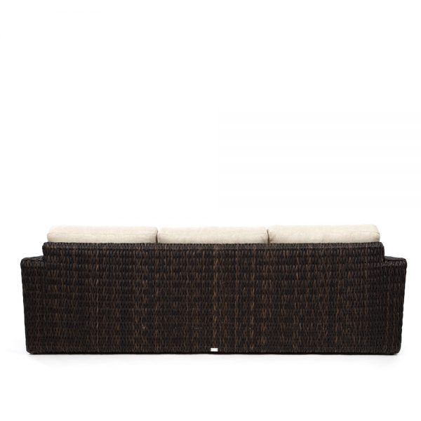 Ebel Orsay outdoor wicker sofa back view