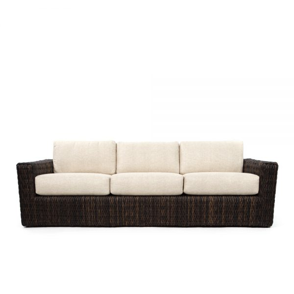 Ebel Orsay wicker sofa front view