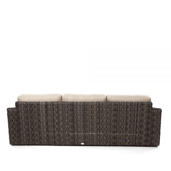 Ebel Orsay wicker sofa back view