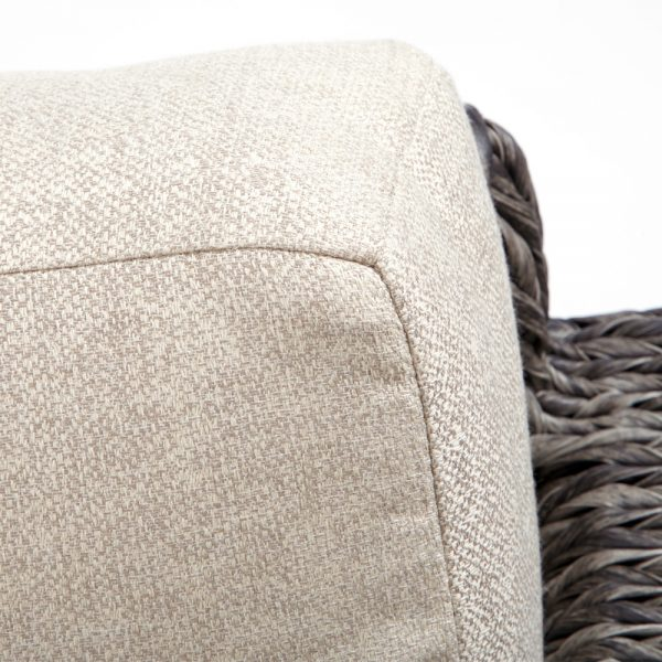 Ebel Orsay loveseat with Sunbrella Chartres Malt cushions