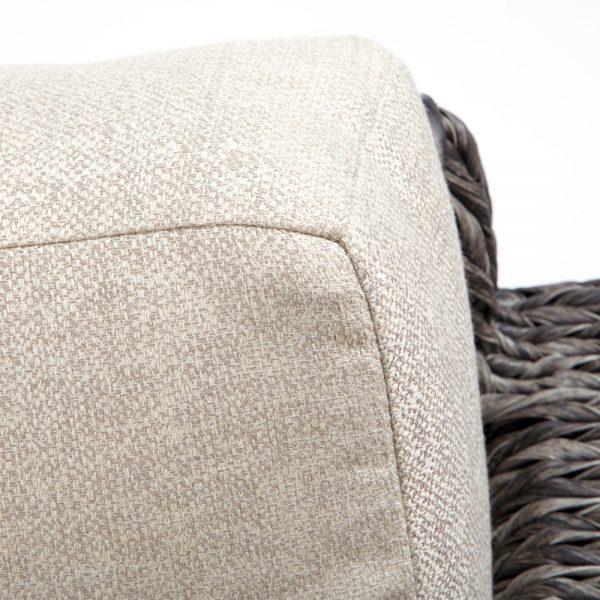 Ebel Orsay sofa with Sunbrella Chartres Malt cushions