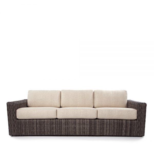 Ebel Orsay outdoor wicker sofa front view