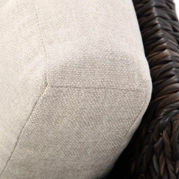 Ebel Orsay swivel rocker club chair with Sunbrella Chartres Malt cushions