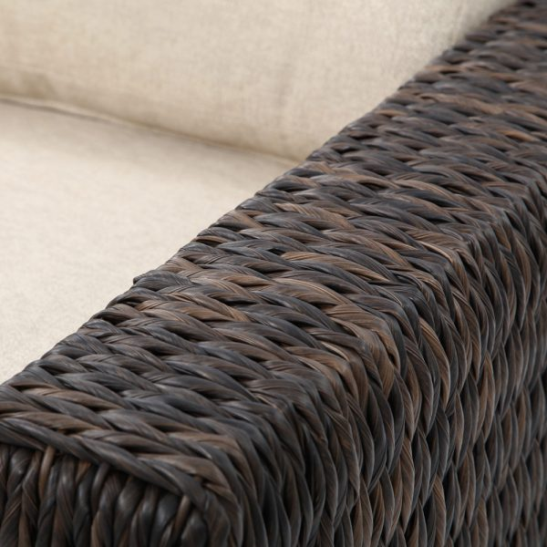 Ebel Orsay wicker swivel club chair with a Espresso weave