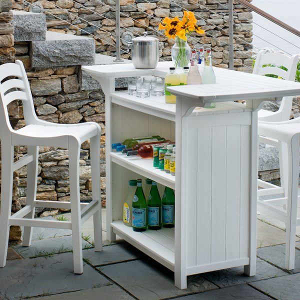 Seaside Casual Charleston bar chair and Portsmouth party bar