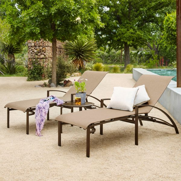 Brown Jordan Pasadena sling outdoor lounge furniture