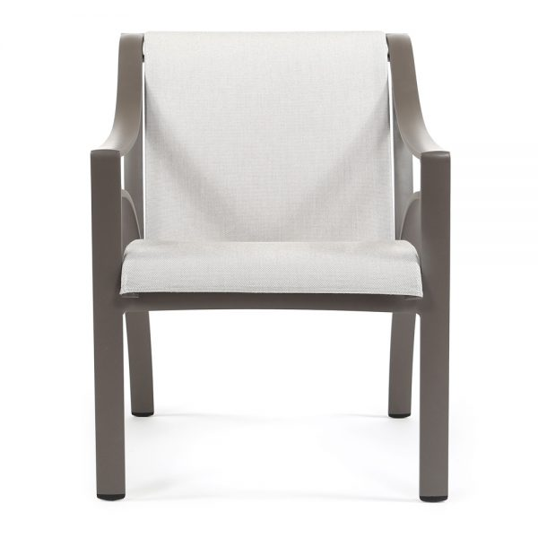Brown Jordan Pasadena sling dining chair front view
