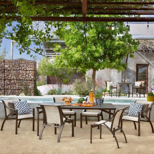 Brown Jordan Pasadena sling outdoor dining furniture