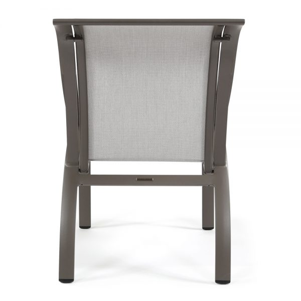 Pasadena sling patio dining chair back view