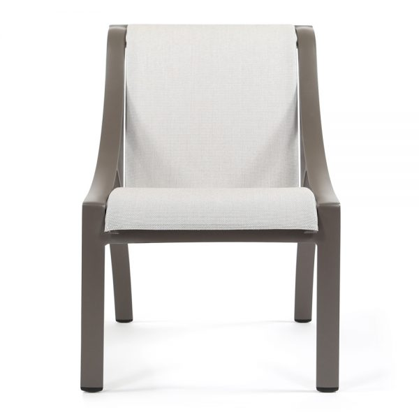 Brown Jordan Pasadena sling patio dining side chair front view