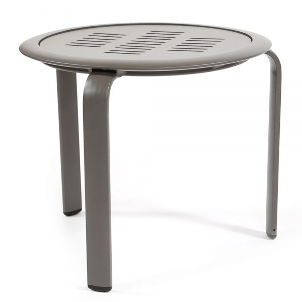 Pasadena Sling aluminum end table side view