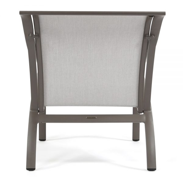 Pasadena sling aluminum patio lounge chair back view