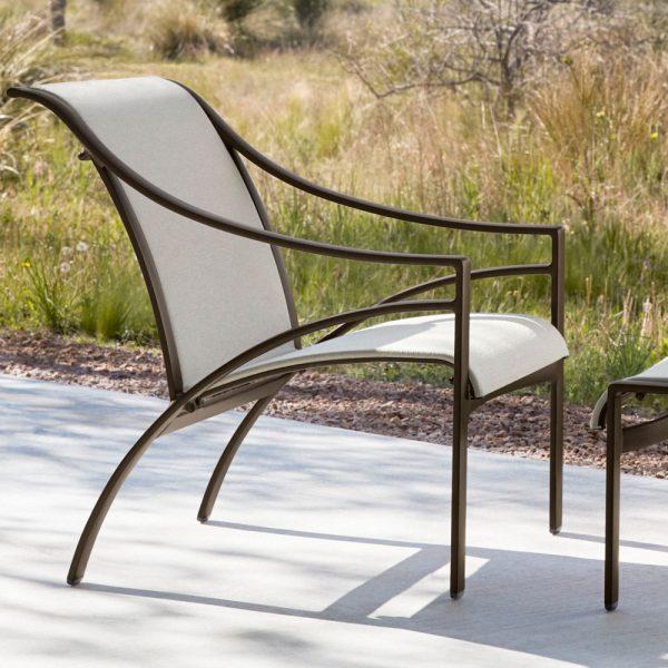 Brown Jordan Pasadena sling outdoor lounge furniture
