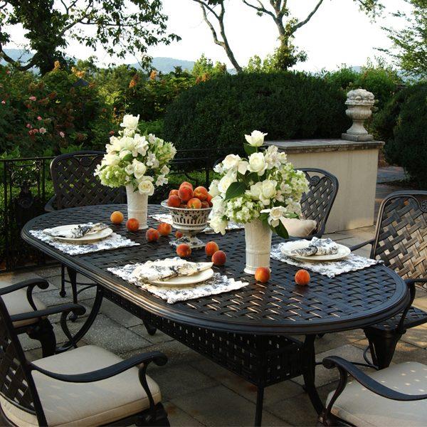 Provance cast aluminum patio dining set
