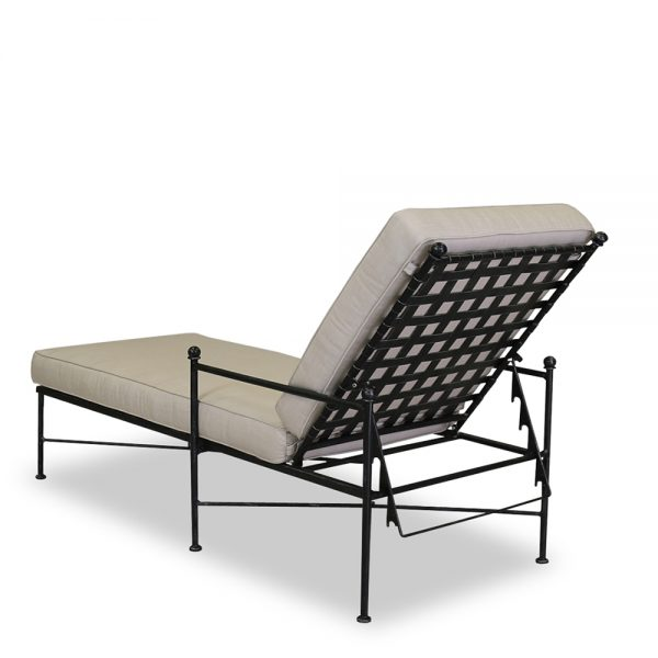 Sunset West Provence wrought iron chaise lounge
