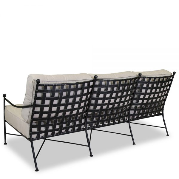 Wrought iron sofa back view - Provence