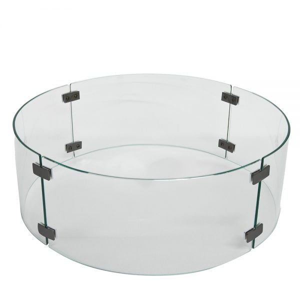 """23"""" Round fire pit glass guard"""