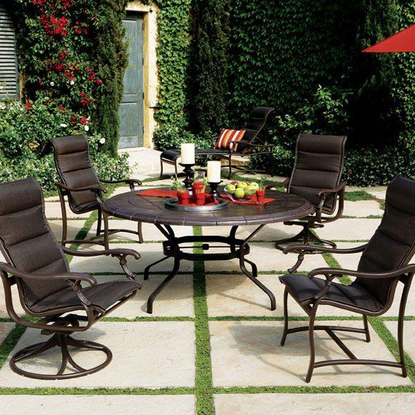 Ravello padded sling patio dining set
