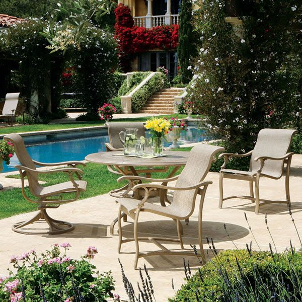 Ravello sling patio dining set