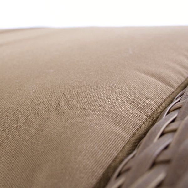 Saddleback Wicker Ottoman Cushion Detail