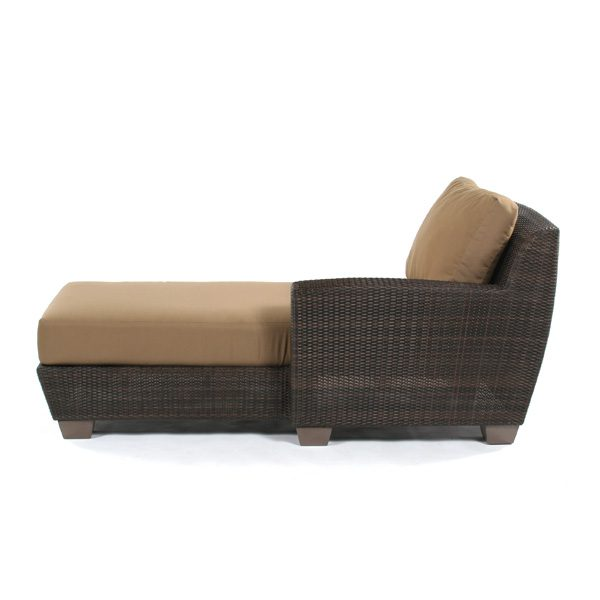 Saddleback Right Arm Facing Chaise Lounge Sectional Unit Side View