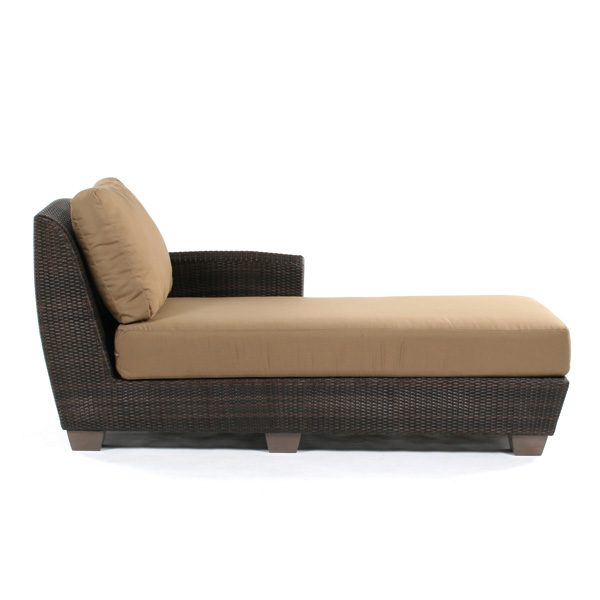 Saddleback Right Arm Facing Chaise Lounge Sectional Unit Open Face Side View