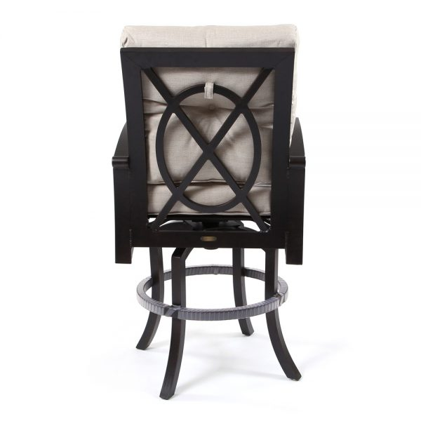 Mallin Salisbury aluminum bar stool back view