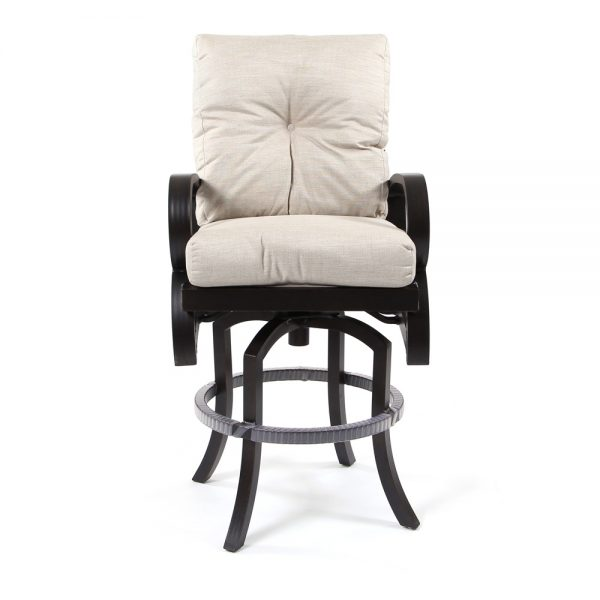 Mallin Salisbury outdoor swivel bar stool front view