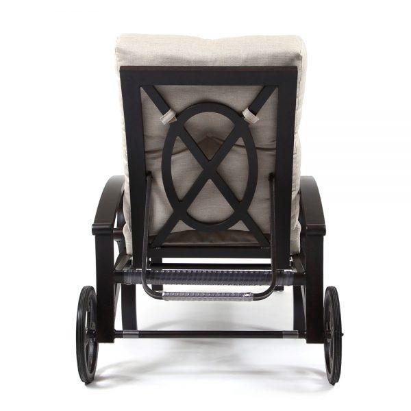 Mallin Salisbury adjustable chaise lounge with wheels back view