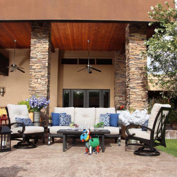 Mallin Salisbury aluminum outdoor furniture