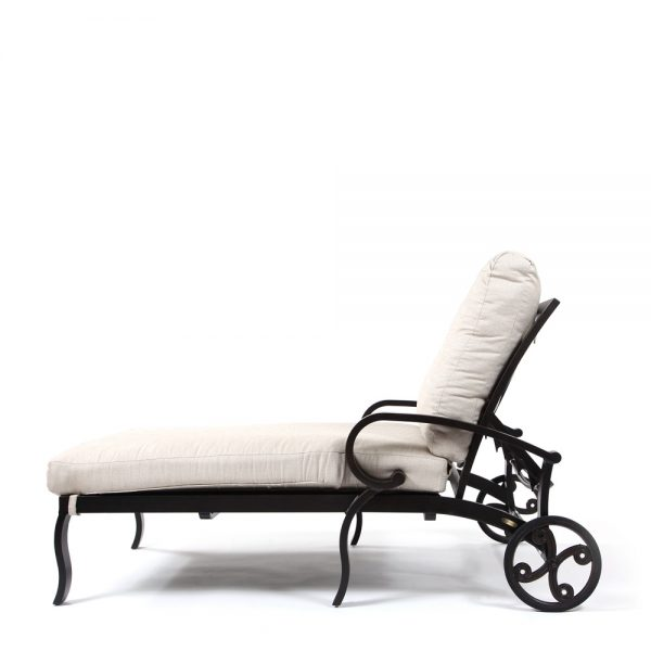 Salisbury oversize chaise lounge side view with reclining positions