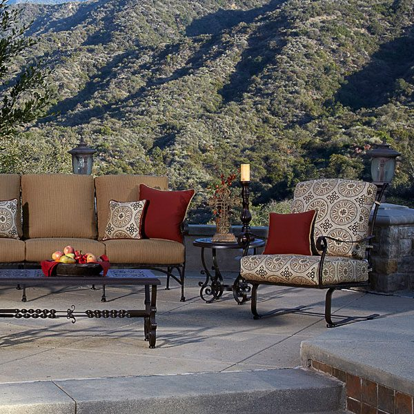 OW Lee San Cristobal Patio Deep Seating Group With Club Chairs
